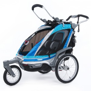 Thule Chariot Chinook 1 2014 Blue + bike set ZDARMA