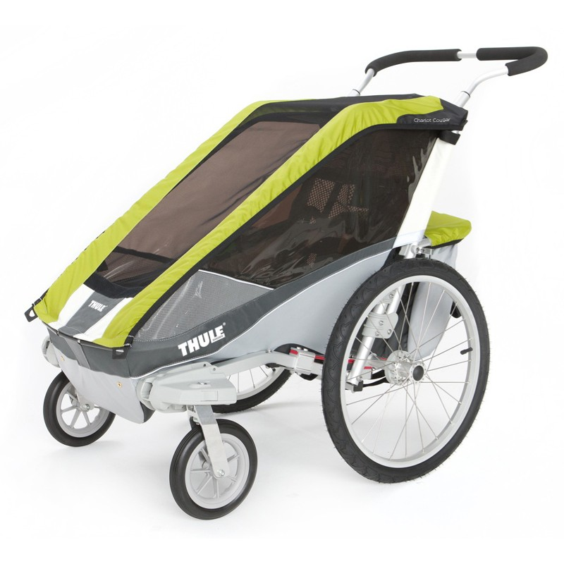 thule chariot cougar 1 2014 avocado bike set. Black Bedroom Furniture Sets. Home Design Ideas