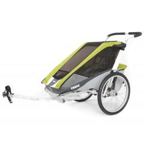 Thule Chariot Cougar 2 2014 Avocado + bike set