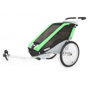 Thule Chariot Cheetah 1 2014 Green + bike set