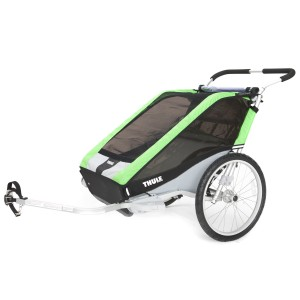 Thule Chariot Cheetah 2 2014 Green + bike set