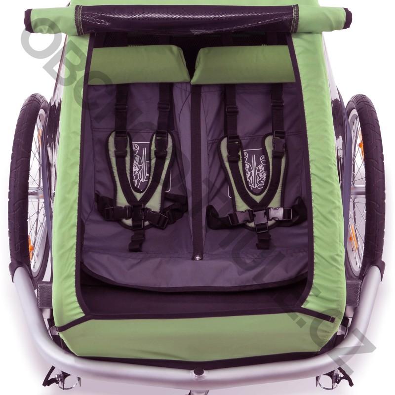 croozer kid for 2 2015 green. Black Bedroom Furniture Sets. Home Design Ideas