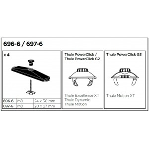 T-adaptéry Thule 6976