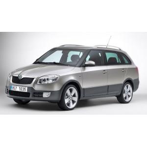 Příčníky Thule WingBar Škoda Fabia Scout II Combi 2009-2014 s podélníky