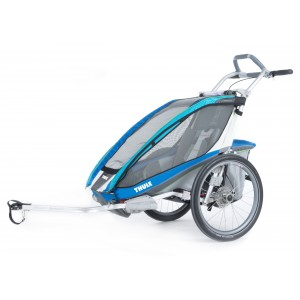Thule Chariot CX1 2014 Blue + bike set