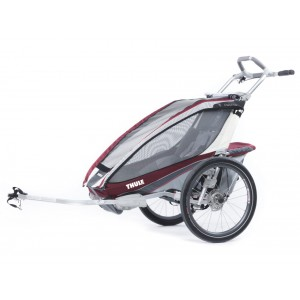 Thule Chariot CX1 2014 Burgundy + bike set