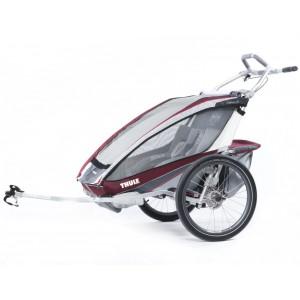 Thule Chariot CX2 2014 Burgundy + bike set
