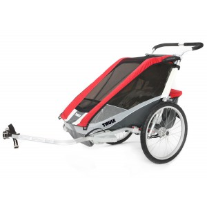 Thule Chariot Cougar 1 2014 Red + bike set