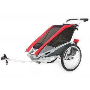 Thule Chariot Cougar 2 2014 Red + bike set