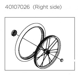 """Thule Wheel Assembly R 18"""" 40107026"""