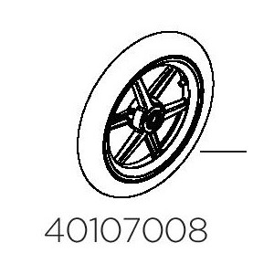 "Thule Wheel Assembly 12"" Front 40107008"