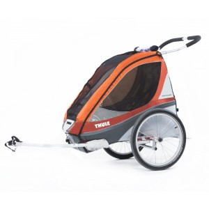 Thule Chariot Corsaire 1 2014 Orange + bike set