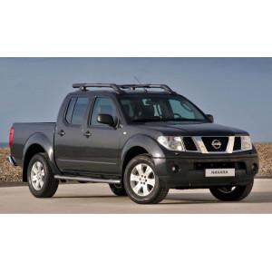 Příčníky Thule WingBar Black Nissan Navara Double Cab 2005-2015 s podélníky