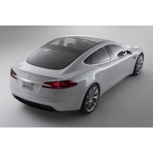 Příčníky Tesla S 15- s pevnými body (prosklená střecha) Aero
