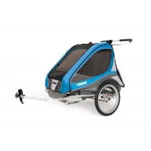 Thule Chariot Captain 2 2016 Blue + bike set