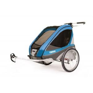Thule Chariot Corsaire 2 2016 Blue + bike set