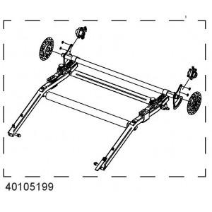 Kotoučová brzda spodní rám 40105199