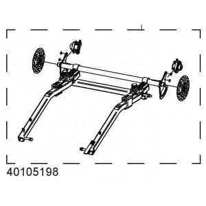 Kotoučová brzda, spodní rám CX1 40105198