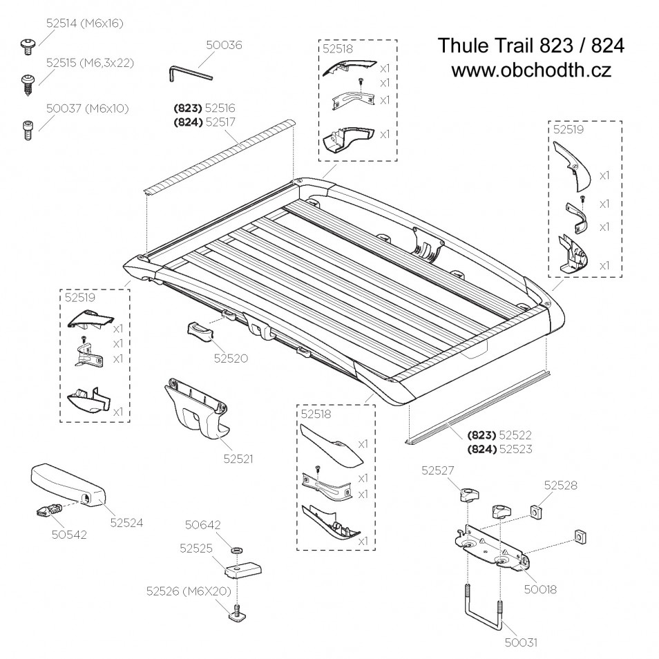 ND Thule Trail 823 / 824