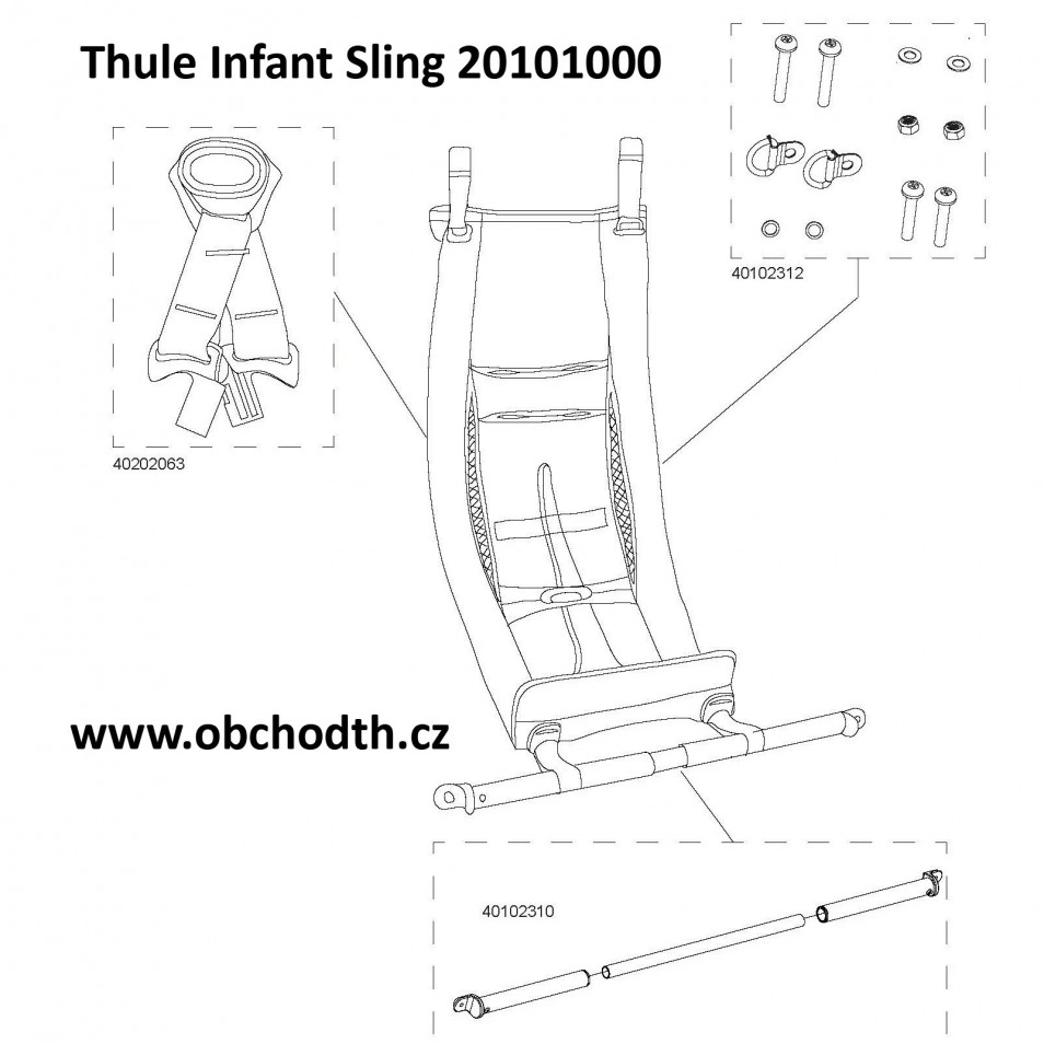 ND Thule Chariot Infant Sling 20101000
