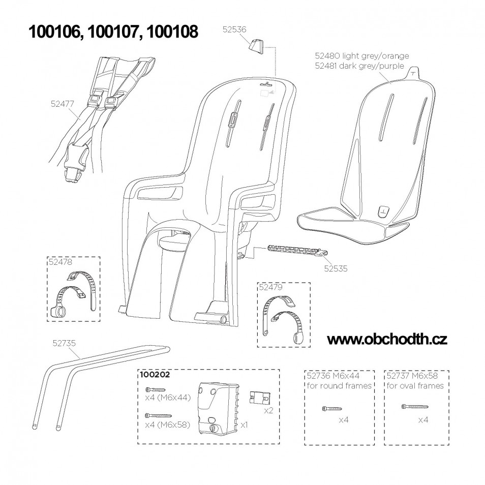 ND Thule RideAlong 100106, 100107, 100108