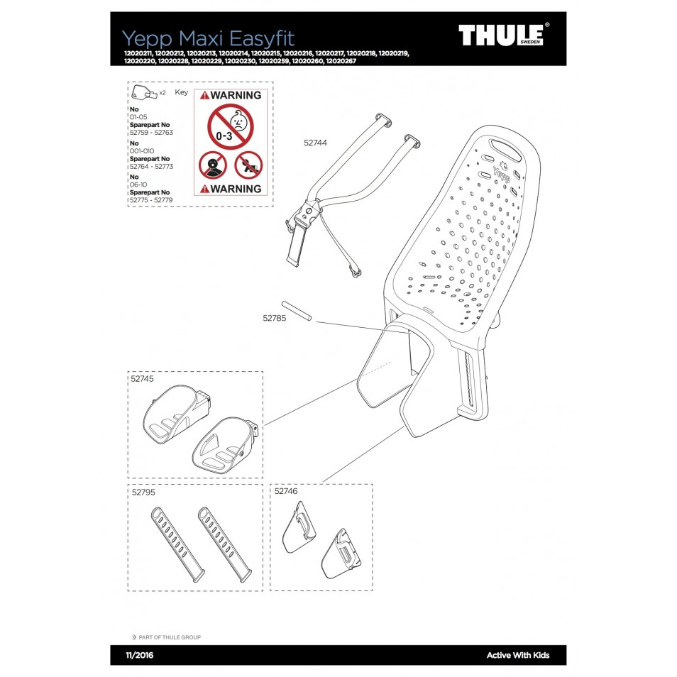 ND Thule Yepp Maxi Easy Fit