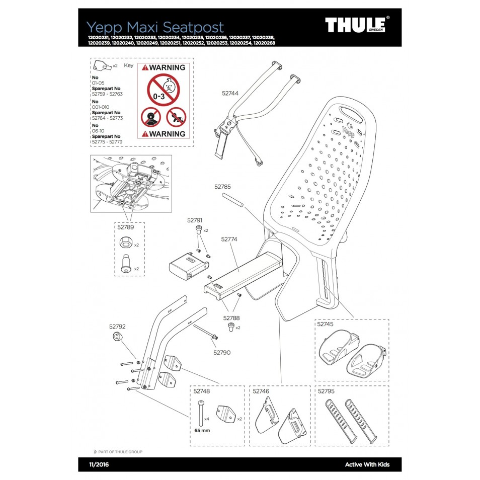 ND Thule Yepp Maxi Seat Post