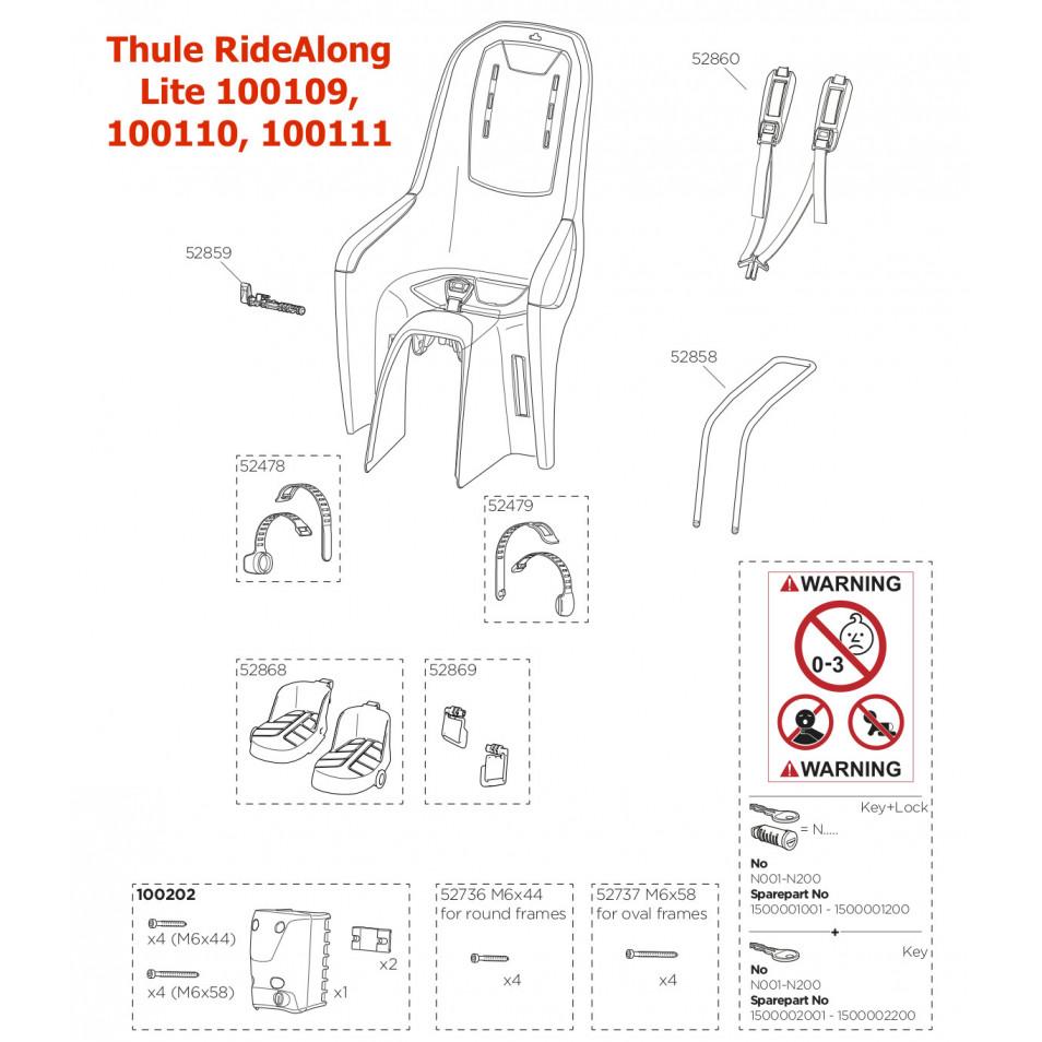 ND Thule RideAlong Lite 100109, 100110, 100111